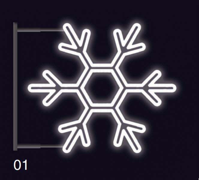 VLOČKA KLASIK  s konzolí 75x75 studená bílá (5)