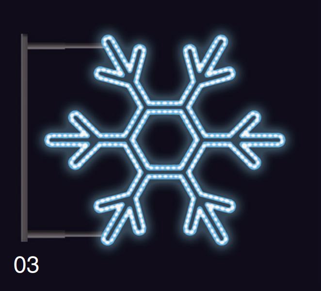 VLOČKA KLASIK s konzolí 75x75 modrá