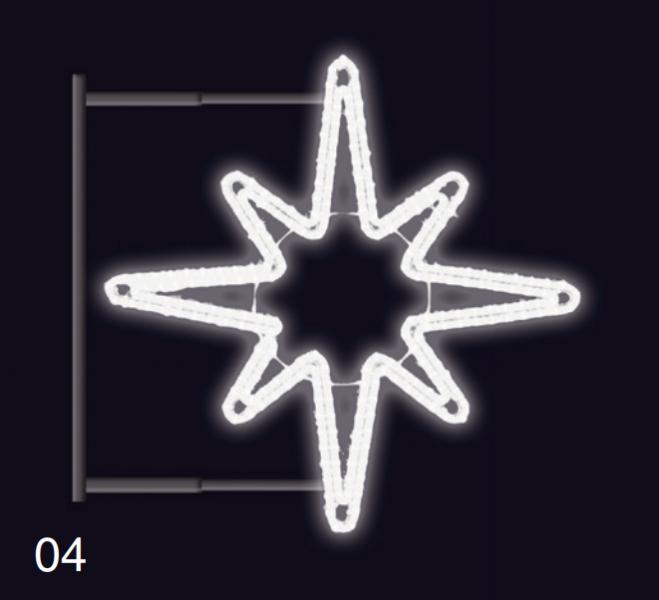Hvězdice s konzolí 80x80cm studená bílá