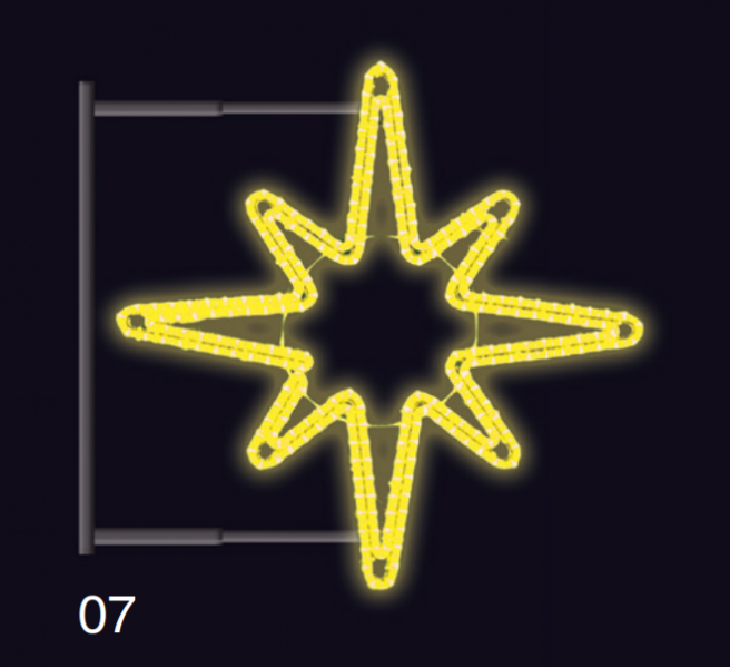 Hvězdice s konzolí 80x80cm žlutá
