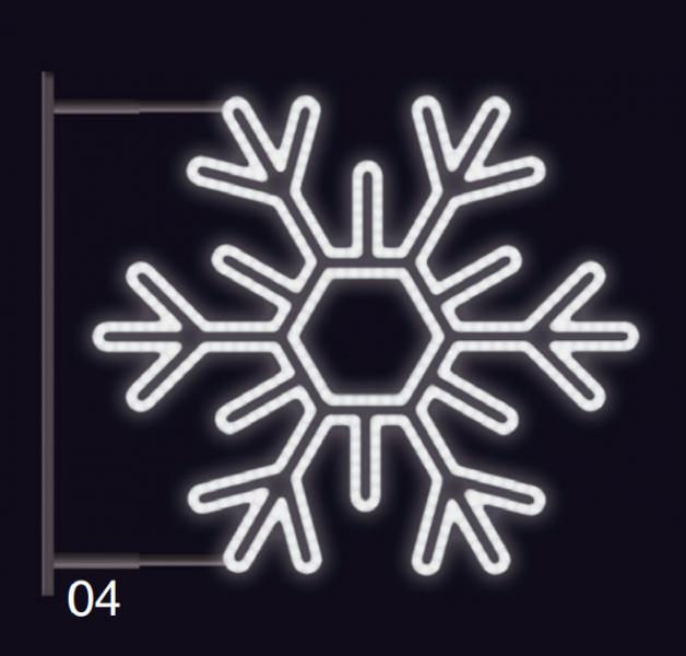 VLOČKA ŠESTIRAMENNÁ s konzolí 75x75cm  studená bílá