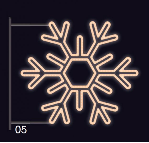 VLOČKA ŠESTIRAMENNÁ s konzolí 75x75cm teplá bílá