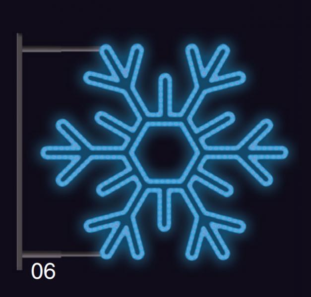 VLOČKA ŠESTIRAMENNÁ s konzolí 75x75cm modrá