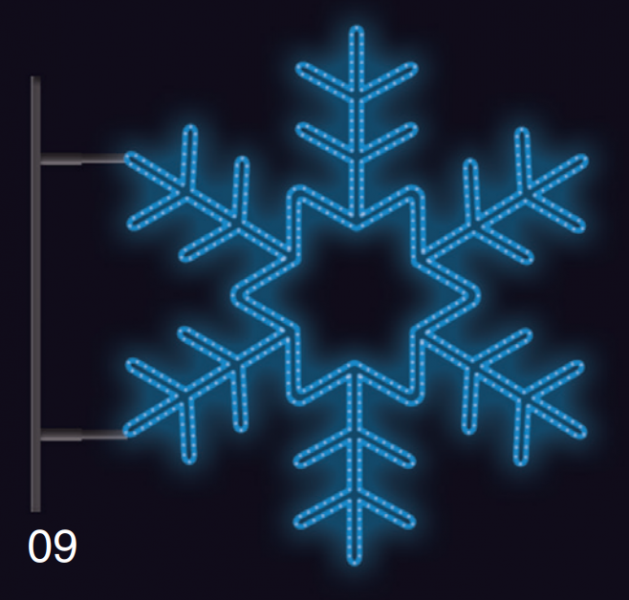 VLOČKA KRYSTAL s konzolí 75x75cm modrá