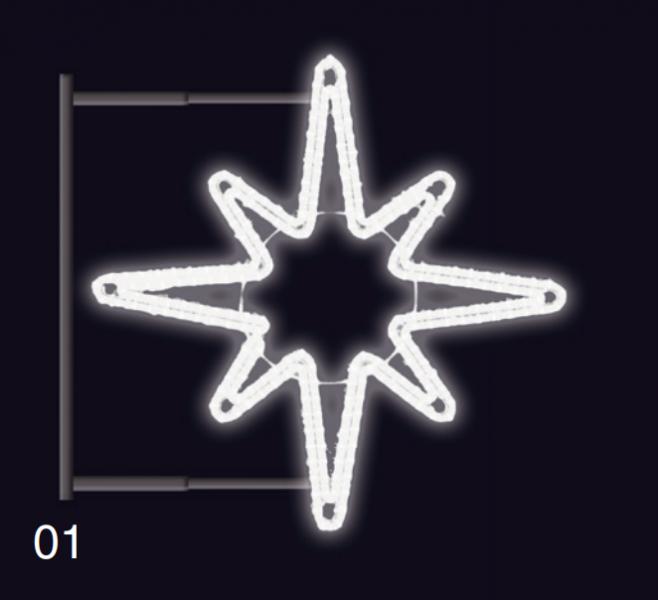HVĚZDICE s konzolí 1,2x1,2m studená bílá