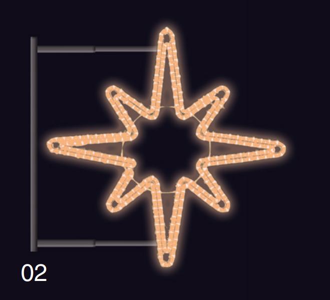 HVĚZDICE s konzolí 1,2x1,2m teplá bílá