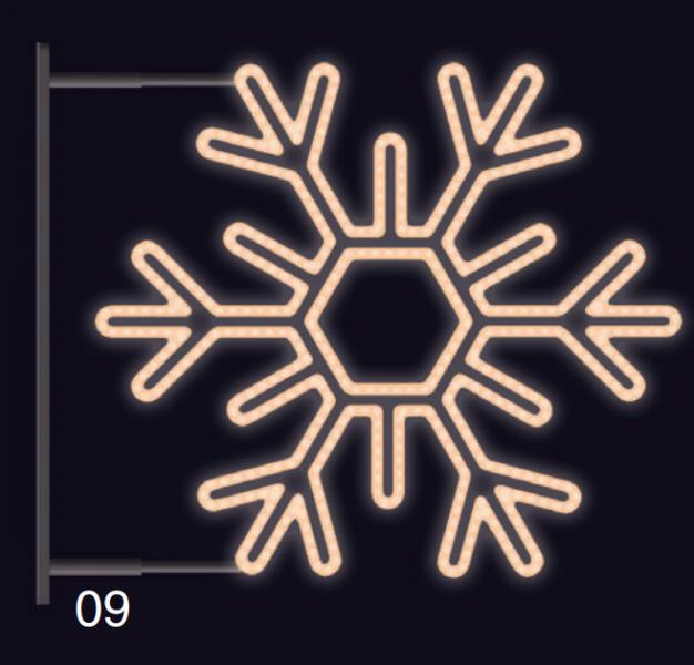 VLOČKA ŠESTIRAMENNÁ s konzolí 1,2x1,2m teplá bílá