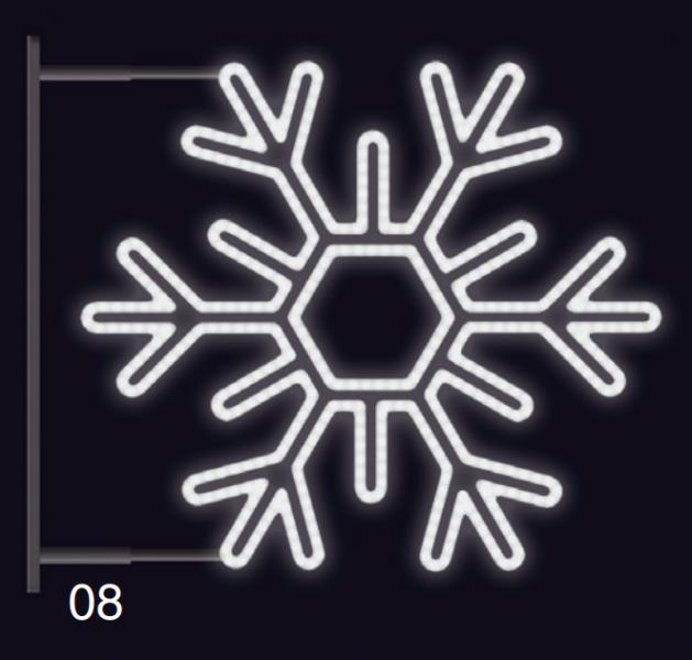 VLOČKA ŠESTIRAMENNÁ s konzolí 1,2x1,2m studená bílá