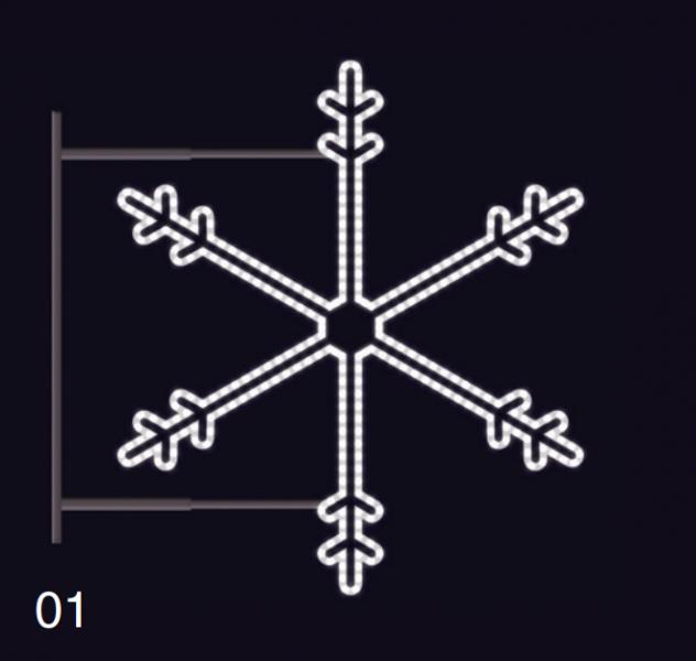 SNĚHOVÁ VLOČKA s konzolí 1,15x1,05m studená bílá