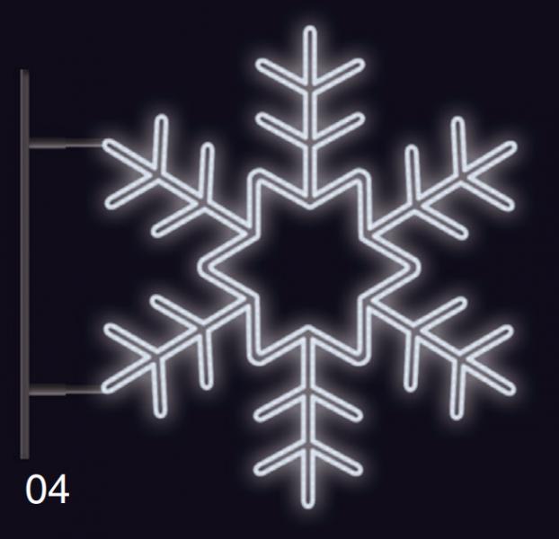 VLOČKA KRYSTAL s konzolí 1,2x1,2m studená bílá
