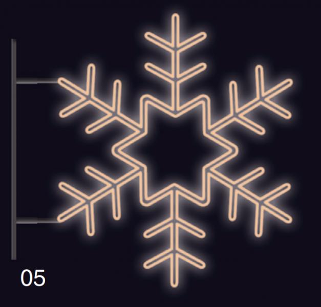 VLOČKA KRYSTAL s konzolí 1,2x1,2m teplá bílá