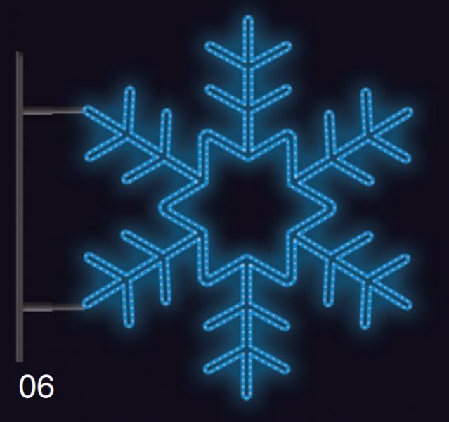 VLOČKA KRYSTAL s konzolí 1,2x1,2m modrá