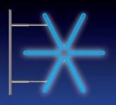 JISKRA 48W LED 115x105 modrá