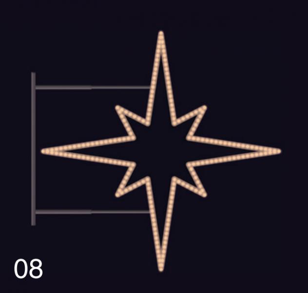 HVĚZDICE STANDARD 1,15x1,15m teplá bílá