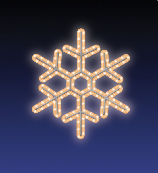 VLOČKA LED 16W 47x47 cm teplá bílá
