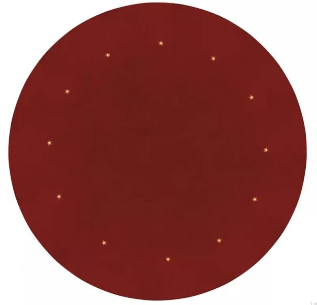 Vánoční koberec červený