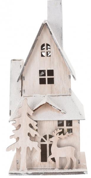 Svítící domeček dřevěný - varianta B