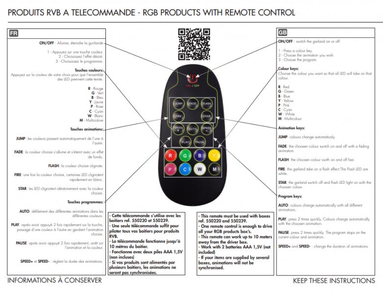 Dálkový ovladač + řídící prvek pro MAXILEB-LED řetěz RGB