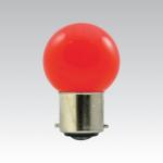 ŽÁROVKY LED bajonet B22 - 1W červená