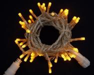 LED řetěz profesionální stále-svítící 40 LED/5m žlutá  #