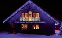 Světelné rampouchy HIGH PROFI prodlužovací + FLASH efekt, 2x0,7m 90 LED modrá+stud.bílá