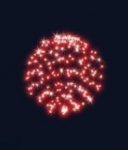 3D hvězdná koule, průměr 55cm, FLASH efekt, červená