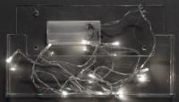 Vánoční LED řetěz na baterie 20 LED/2m studená bílá