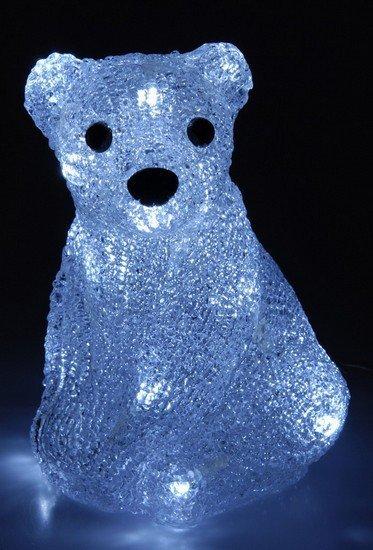Lední medvěd svítící , 20 LED, 3D dekorace