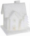 Vánoční LED svítící domek pěnový - malý - varianta A