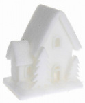 Vánoční LED svítící domek pěnový - malý - varianta B