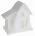 Vánoční LED svítící domek pěnový - malý - varianta C