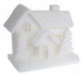 Vánoční svítící domeček pěnový / LED - velký