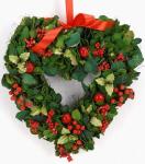 Vánoční závěsné srdce na dveře