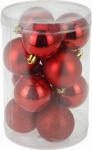 Vánoční koule - set 12ks - červené #