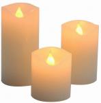 Vánoční LED svíčky set 3ks - bílé ( 5cm, 7,5cm, 10cm ) #