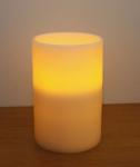 Vánoční LED svíčka bílá 15x22cm