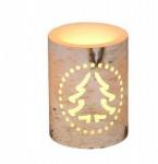 Vánoční LED svíčka s motivem stromku - 7,5x7,5x10cm