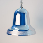 Zvonek stříbrný lesk 30cm