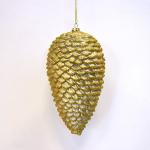 Vánoční šiška zlatá 18cm