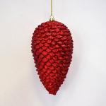Vánoční šiška červená 18cm