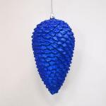 Vánoční šiška modrá 18cm