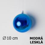 Vánoční koule modrá 10cm