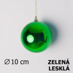 Vánoční koule zelená 10cm