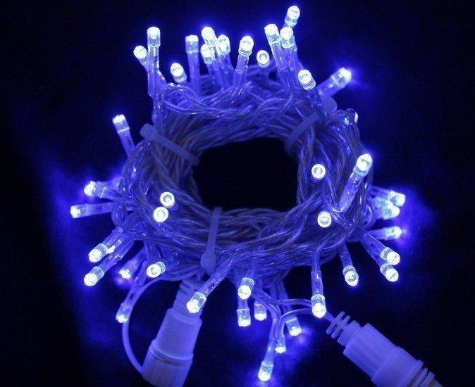 LED řetěz profesionální stále-svítící 40 LED/5m modrý  #