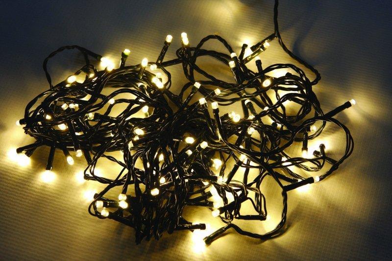 Vánoční LED řetěz stále-svítící 720 LED/54m venkovní/vnitřní, teplá bílá