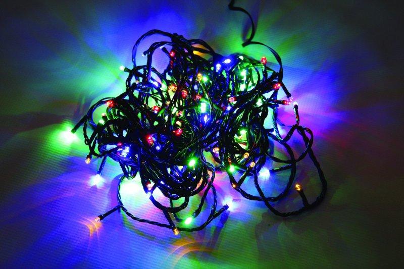 Vánoční LED řetěz na baterie 48 LED/3,6m multicolor