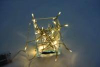 Vánoční LED řetěz na baterie 50 LED/5m teplá bílá