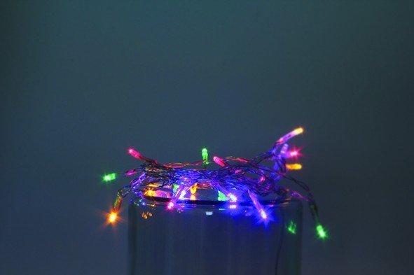 Vánoční LED řetěz na baterie 10 LED/1m multicolor