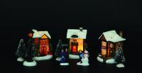 Vánoční vesnice - sada 10 ks