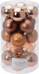 Vánoční koule - set 20ks - měděné průměr 6cm